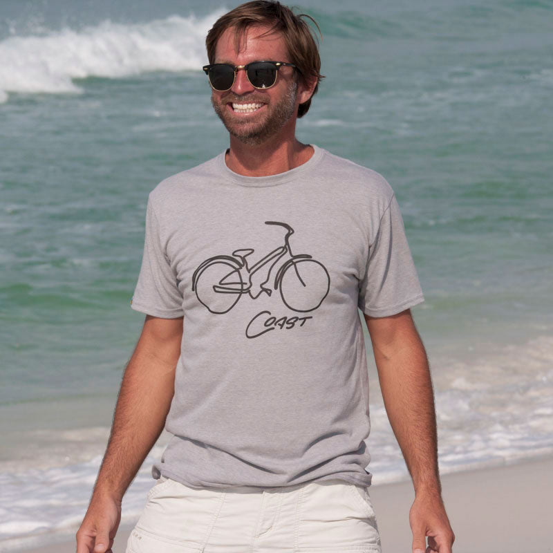 Coast Bike Unisex T-Shirt Made from Recycled Plastic Bottles