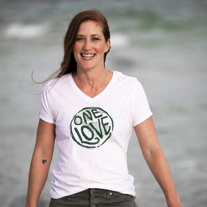 One Love Recycled V-Neck Shirt for Women