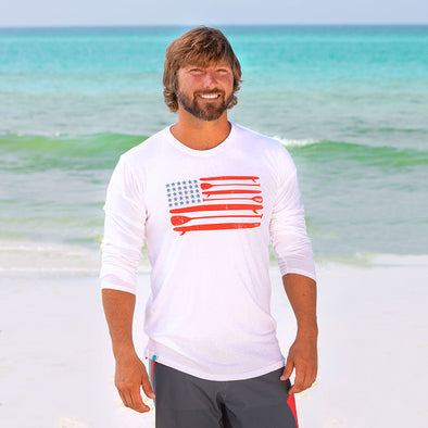 30A Paddle board USA Recycled  Long Sleeve
