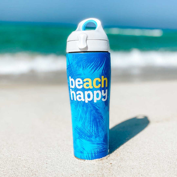 Beach Happy Tervis Palms Water Bottle