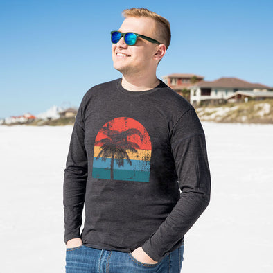 Vintage Palm Tree Recycled Long Sleeve