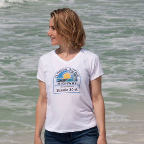 30A Florida Scenic Highway Recycled V-Neck