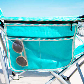 30A Sling Aqua Beach Chair with Built-in Cooler