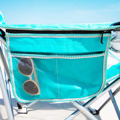 30A Sling Beach Chair with Built-in Cooler