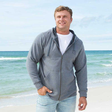 Thirty-A Square Recycled Full Zip Sweatshirt
