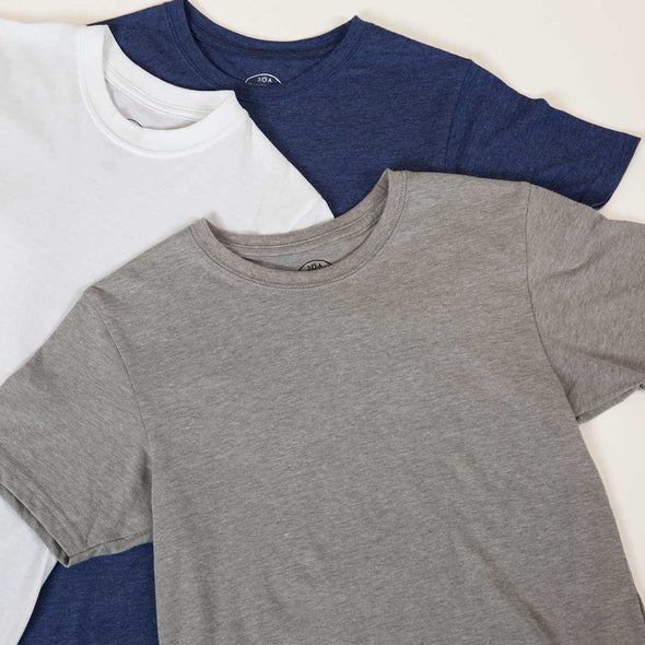 Men's Basic Short Sleeve Recycled Tee Bundle