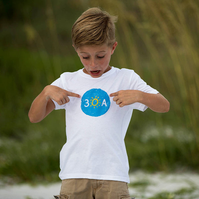 30A sticker recycled shirt for kids