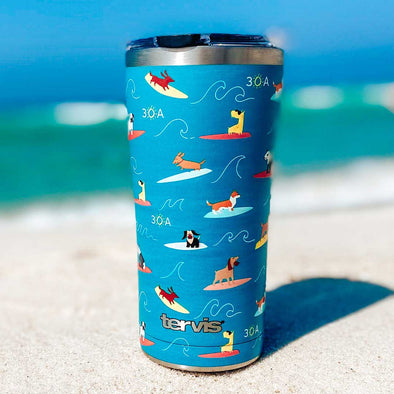 Surfing Dog Stainless Tervis Tumbler