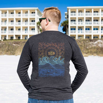 Graphic Waves Recycled Long Sleeve