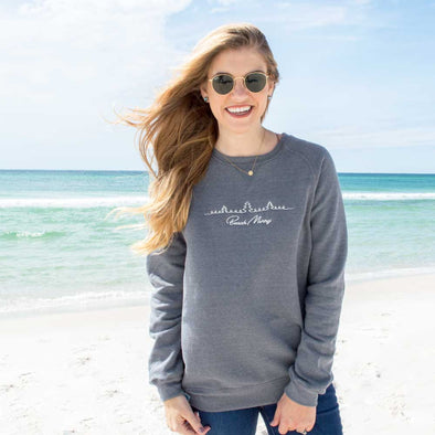Beach Merry Trees Crewneck Sweatshirt
