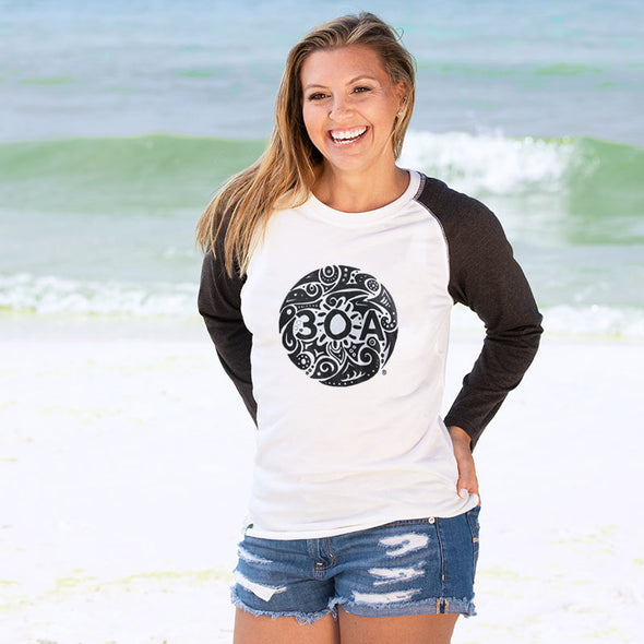 30A Tribal Recycled Baseball Tee
