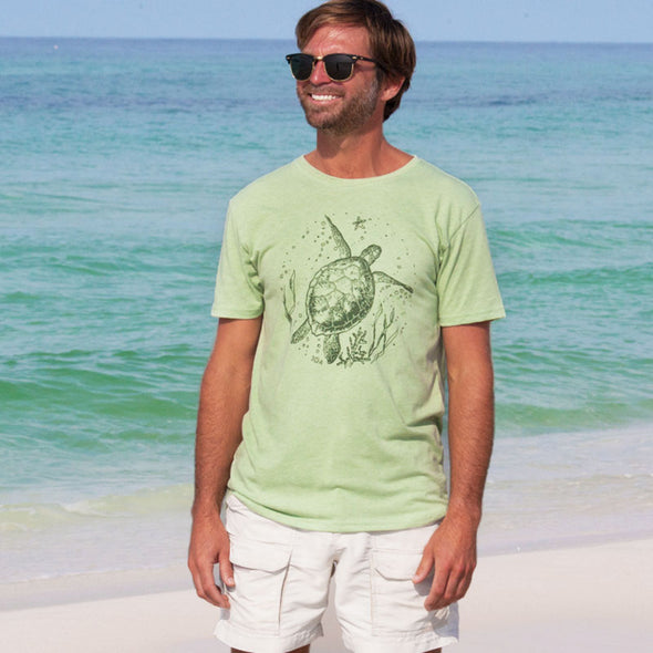 30A Sea Turtle Recycled Crew Neck Tee