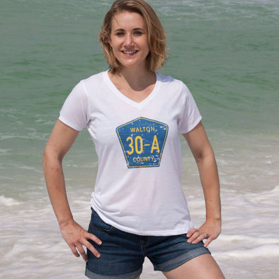 30A® Walton County Road Sign Recycled V-Neck