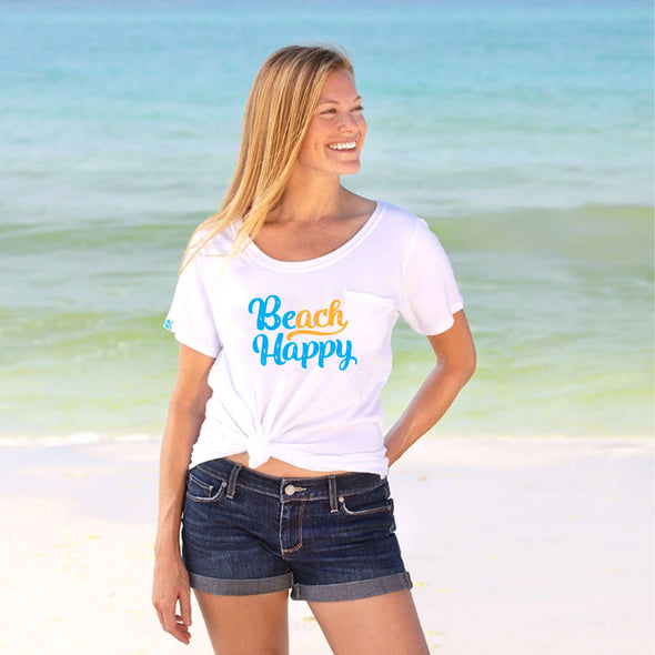 30A Beach Happy® Script Recycled Slouch