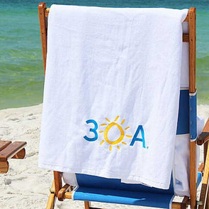 Embroidered 30A Beach Towel