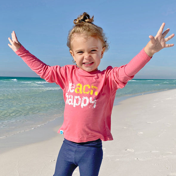 Youth Beach Happy Recycled Long Sleeve