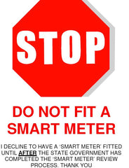 Stop do not fit a smart meter 3AW