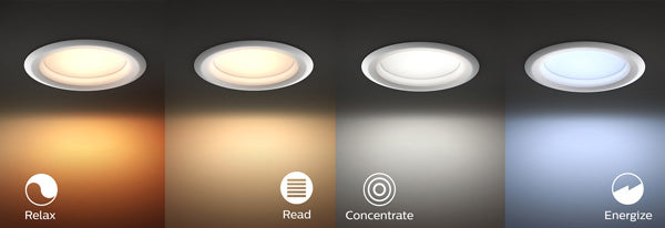 Philips Hue Downlight Changes Colour Temperature