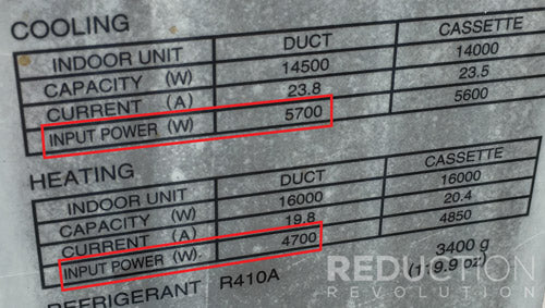 AC compliance plate input power rating