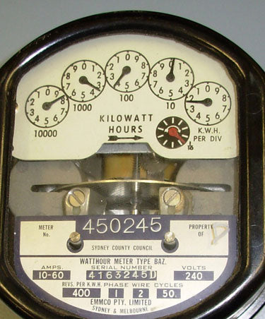 Old mechanical electricity meter