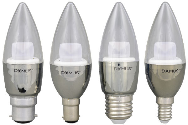 DOMUS LED Clear Candle Range
