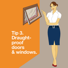 Draught-proof doors and windows