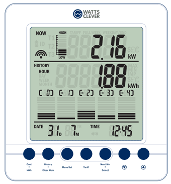 Smart Meter Energy Monitor In Home Display Screen