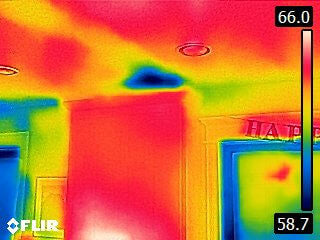 FLIR C3 Ceiling Insulation Gap