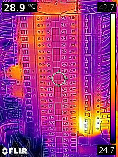 Electricity switch board thermal camera image - FLIR C2