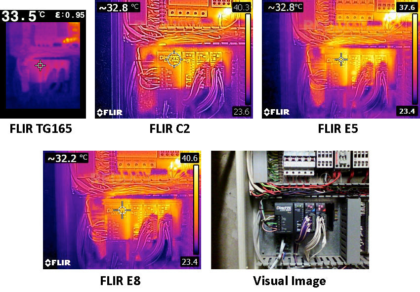 Thermal Images Electrical Board Inspection