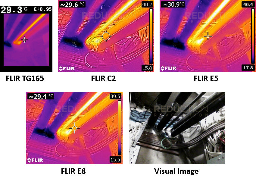 Thermal imaging inspection of hot and cold water pipes