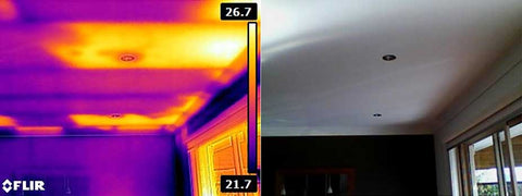 FLIR E8 Missing Ceiling Insulation