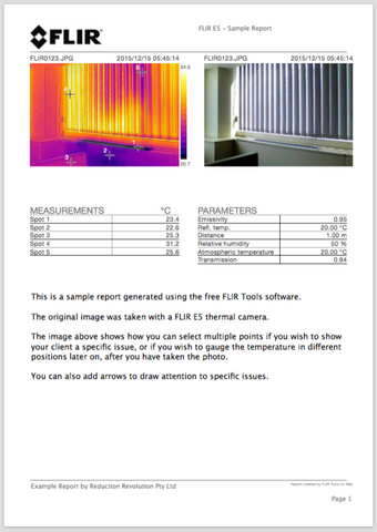 thermal imaging report template rent hire flir thermal imaging camera