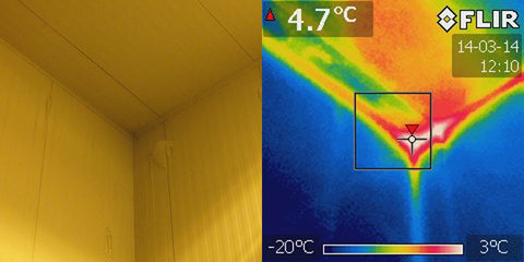 Freezer Room Insulation Infrared FLIR E5