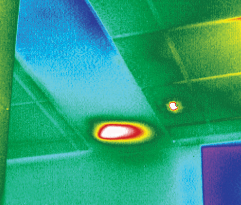 Counter surveillance with a thermal camera