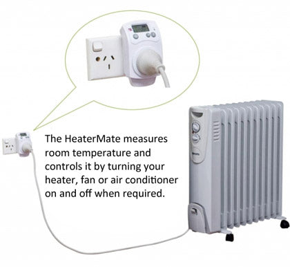 HeaterMate Plug-in Heating & Cooling Thermostat With Timer