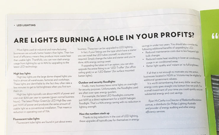 Are Lights Burning A Hole in Your Profits