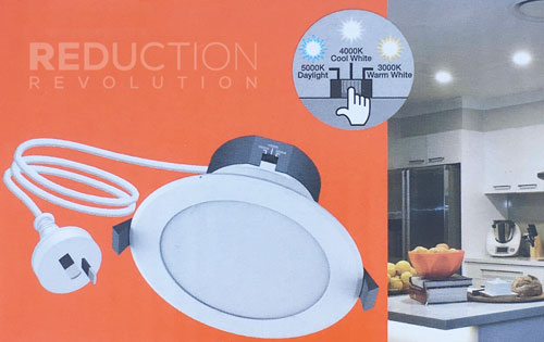 Warm White, Cool White, or Daylight LED Downlight
