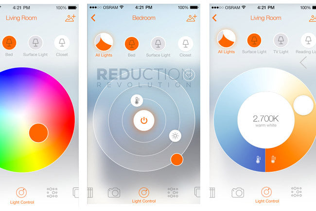 Osram Lightify Wifi Lighting App