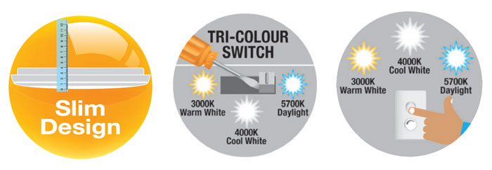 Osram Tri Colour Oyster Features