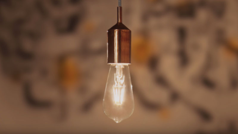 Philips LED Filament ST64 in pendant fitting