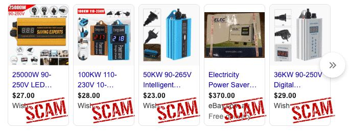 Power Saving Scams Promoted by Google