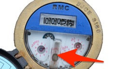 RMC Dial Face Water Meter