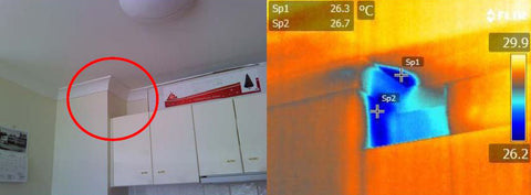Water Leak in an Apartment Thermal