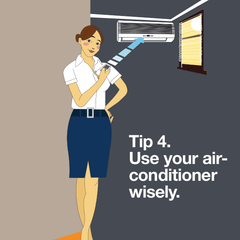 Use air-conditioner wisely