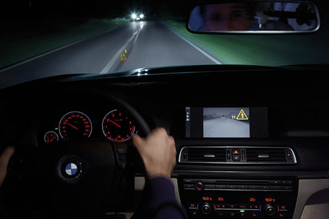 BMW infrared night vision display