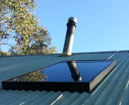 Roof mounted solar air heater