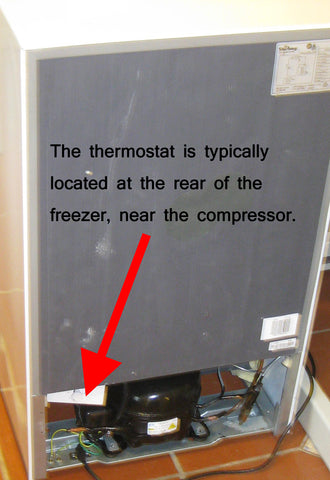 Freezer Thermostat Location