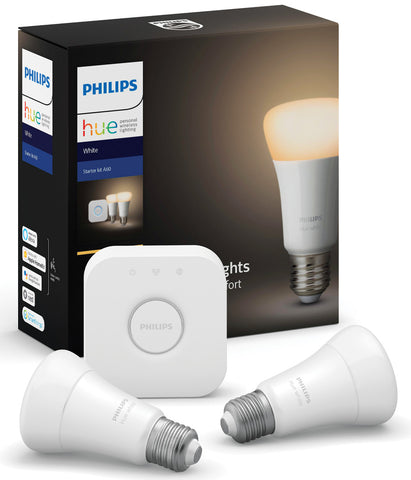 Philips Hue Bulb E27 Starter Kit - Dimmable White