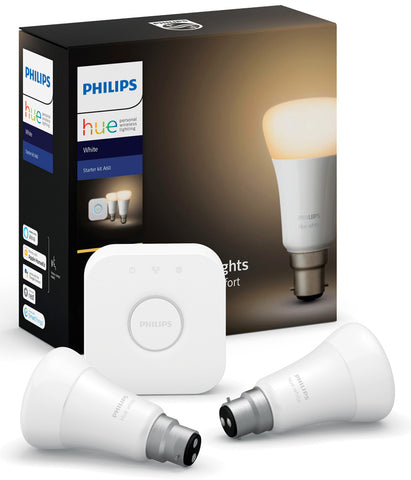 Philips Hue Bulb B22 Starter Kit - Dimmable White